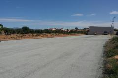 Aparcament de l'Escola Santa Caterina amb el nou asfaltat